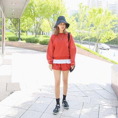 クルリクエンミバブルガムトレーニングセット スウェットパンツセット/ スウェットパンツ/韓国ファッション