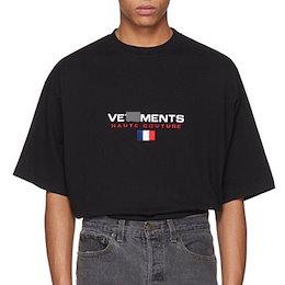 《送料無料》[UNISEX] フランスのフラグ刺繍ショートスリーブTシャツ(2color)