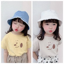 2020夏の新商品の女の子の韓国版の夏の服装の漫画のプリントの子供の半袖のTシャツ