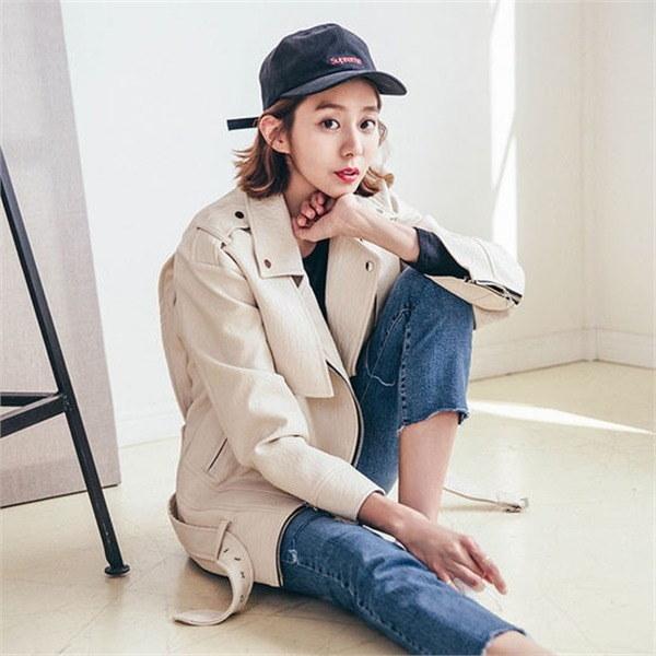 旅行、、ルイス・ライダージャケット 女性のジャケット / 韓国ファッション/ジャケット/秋冬/レディース/ハーフ/ロング/