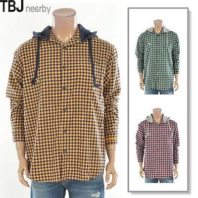 TBJ[AK公式ストア]【TBJ] [TBJ】シャツユニセックスフードチェックシャツ(T191SH201P)