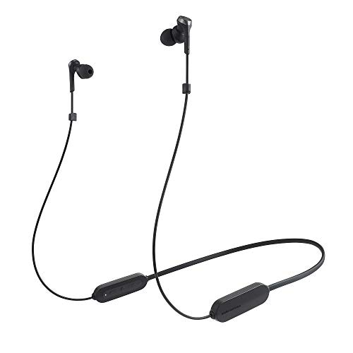 audio-technica ワイヤレスイヤホン Bluetooth マイク付き ブラック ATH-CKS330XBT BK