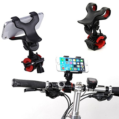 MYS バイク 自転車 スマホ ホールド マウント ホルダー [ 携帯・スマートフォン ナビ代わり 工具無し ハンドル 簡単取付け ] マウントキット 固定型 保護バンド付き アンチショック仕様 4.
