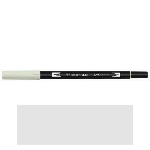 トンボ鉛筆 デュアルブラッシュペン AB−T N95 ABT 水彩 スケッチ 画材 カリグラフィ イラスト ツインタイプ(クールグレー1)