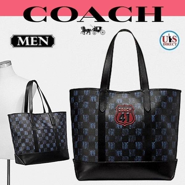 58fbe3a45b59 Qoo10] コーチ : 【COACH/コーチ】チェッカートート : メンズバッグ ...