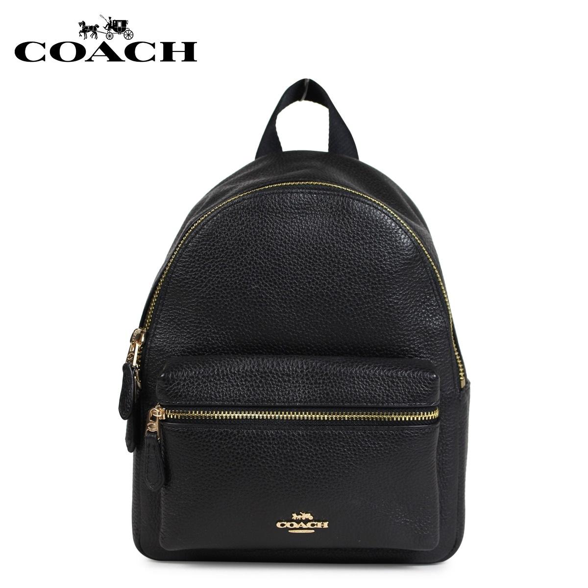 コーチ COACH バッグ リュック バックパック レディース レザー ブラック F28995