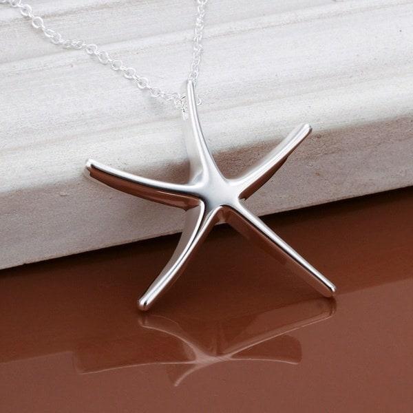 ファッション925スターリングシルバー色の海の星のペンダントCP027