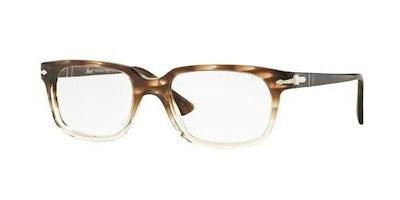 Persol Men s PO3131V Eyeglasses Striped Brown/Gr Trasp 54mm  polo