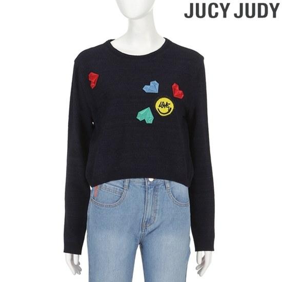 ジューシージュディ組織変形ワペンプレー・ニットプルオーバーJRKT221T ニット/セーター/韓国ファッション