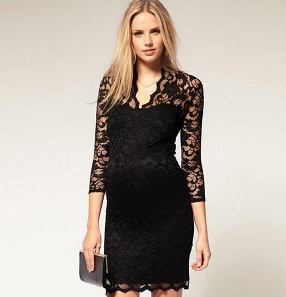 新しいパッケージヒップスカート袖Vネックのレースのドレスの女性のセクシーなレースのスカートスリム