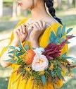 【クーポン使用可能】韓国ファッション ラウンド フラワーバスケット ヴィンテージ 結婚式 旅行撮影 小道具 結婚式 ドレス アクセサリ ポータブル 花嫁 花を保持 ガーランド
