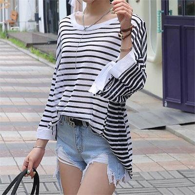 シークフォックスラチア・ストライプニットnew 女性ニット/ラウンドニット/韓国ファッション