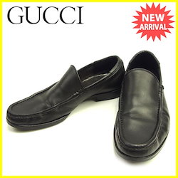 d24f0d6812ed グッチ Gucci シューズ #40 1/2E メンズ ブラック レザー 人気 セール 【中古】