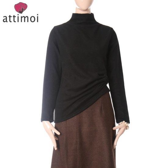 アティムアシンプルベーシックポーラ・ニットATA740008 ニット/セーター/タートルネック/ポーラーニット/韓国ファッション