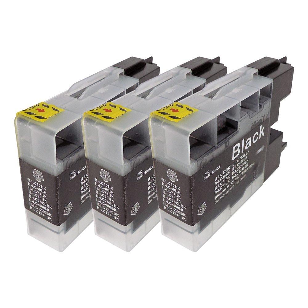 LC12BK(ブラック) 3本セット 互換インクカートリッジ ブラザープリンター