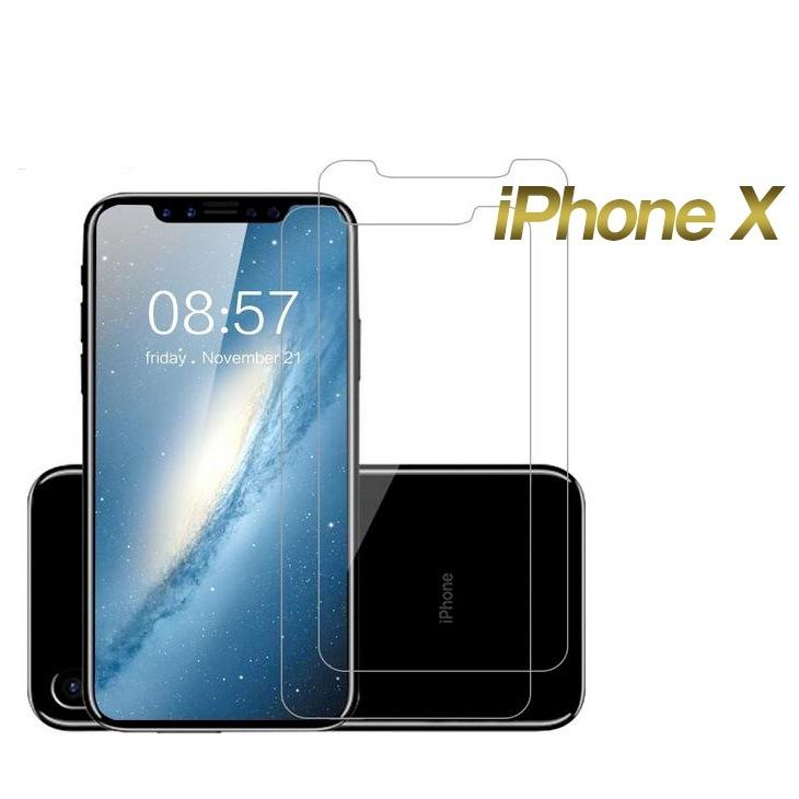 【送料無料】iPhone X 強化ガラスフィルム 保護フィルム 日本製素材旭硝子製 硬度9H 高光透過率 3D Touch 飛散防止 指紋防止