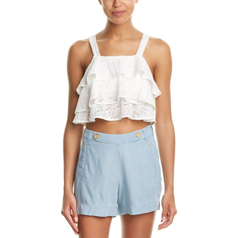 DO+BE レディース トップス ブラウス【DO+BE Lace Ruffle Top】White