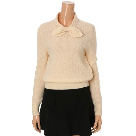 ティレン愛しいリボンニートT161KSK002 ニット/セーター/韓国ファッション