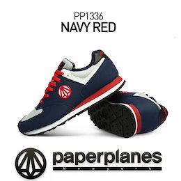 ◆送料無料◆Paperplanes PP1336 Navy/red スニーカー /スニーカー/ランニングシューズスポーツシューズ パンプス靴 k-pop Star シューズEXID アキクラシックスニーカー 靴