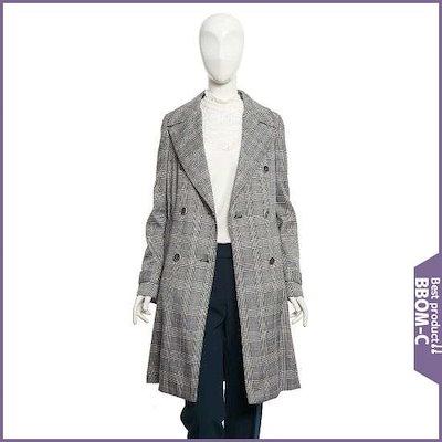[ジェイジェイジコトゥ]ダブルチェッククラシックトレンチコート(GI2A0TC20) /ロングコート/コート/韓国ファッション