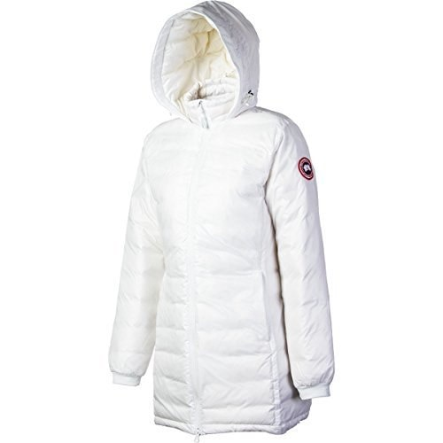 Canada Goose Womens Camp Hooded Jacket,White,Large
