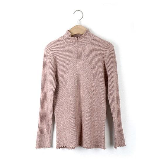 ジュシパクシフリルバンポルラ・ニット ニット/セーター/ニット/韓国ファッション