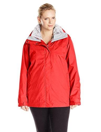 Columbia Womens Plus-Size Sleet To Street Interchange Jacket, Bright Red, 1X