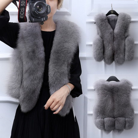 秋冬ファッションファー・毛皮アウター・ショットコート 軽い暖かファー4色
