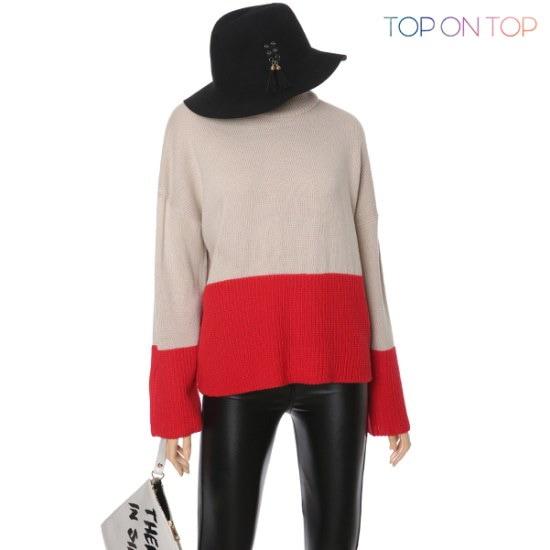 タプオンタプタプオンタプロマバンポルラニトゥTP163879 ニット/セーター/タートルネック/ポーラーニット/韓国ファッション