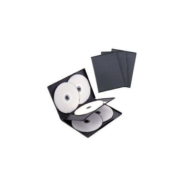 ナカバヤシ DVD-A008-3BK DVDトールケース 6枚収納 3枚セット ブラック