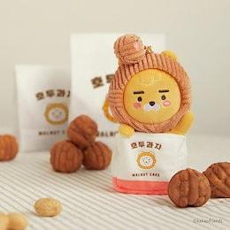 【KAKAO FRIENDS】クルミ菓子のライオン·キーリング、 KTX駅限定販売商品、 2020年12月26日発売、  韓国公式新商品