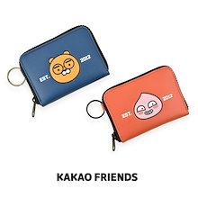 【Kakao friends】カカオフレンズスクールマルチミニポーチ/Kakao friends school theme multi mini pouch/2種・120X85X15mm