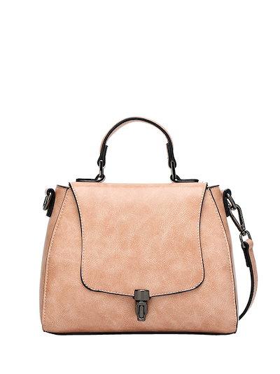 Latest Style Solid Color Cozy Button Women s Handbag