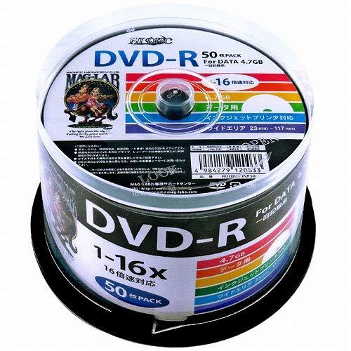 HI-DISC データ用DVD-R HDDR47JNP50 (16倍速 50枚)スピンドルケース 50枚