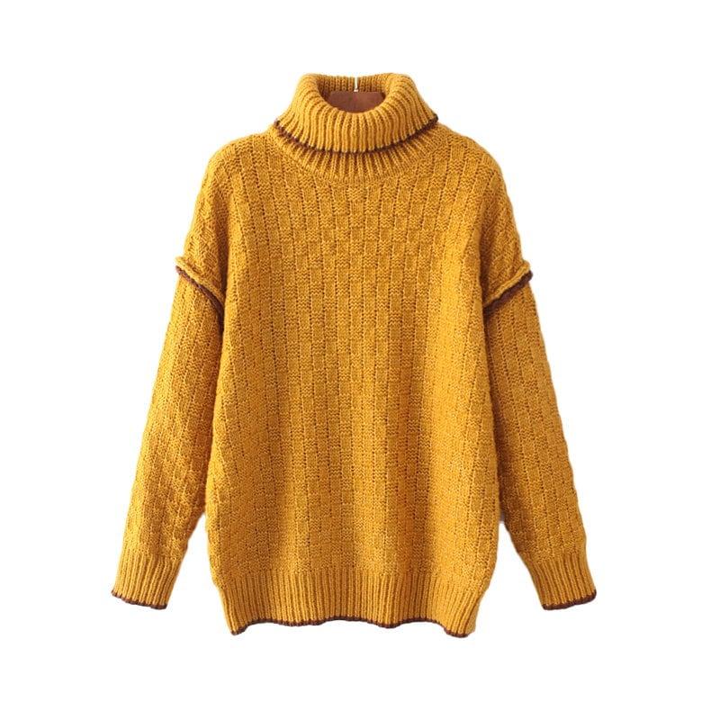 欧米風 全2COLOR タートルネックセーター トップス ニット 秋冬  長袖 お洒落 可愛い ゆるニット レディース
