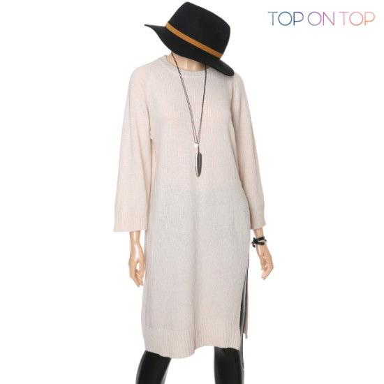 タプオンタプタプオンタプマリロングニートTP163891 ロングニット/ルーズフィット/セーター/韓国ファッション