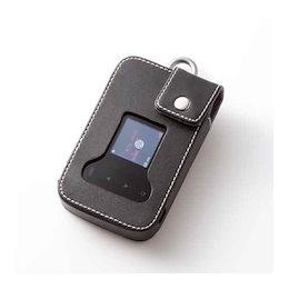 SMISMI イー・モバイル Pocket WiFi GL09P / SoftBank 203Z 用カラビナリング付本革レザーケース