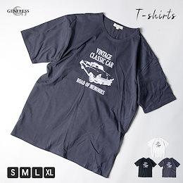 Tシャツ メンズ 半袖 ピュアコットン 綿100% ビンテージカー プリント アメカジ プリントTシャツ Uネック 全3色 NEK-55C