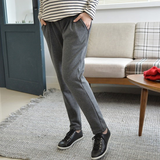 妊婦服・ドット・コムミンクポ排気ジャㅡジ トレーニング下/ スウェットパンツ/韓国ファッション