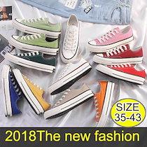 2019男女共に、韓国のリュック靴、十三色の靴。ハイカット/ローカット 選べる2タイプ!  キャンバス オールスター ハイカット/ローカット スニーカー