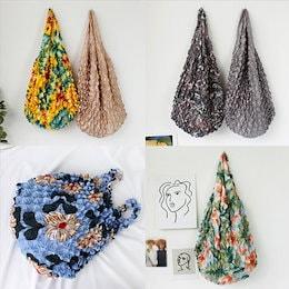 【ANDSTYLE】韓国ファッション/絞りエコバッグ選べる11色!/おしゃれな色合いや柄が視線を集める エコバッグ_242534