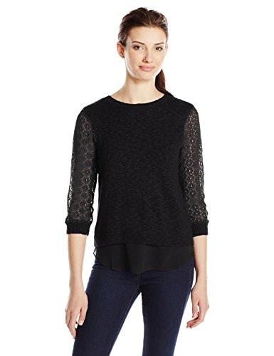 Lucky Brand Womens Cinema Sweater, Lucky Black, Medium
