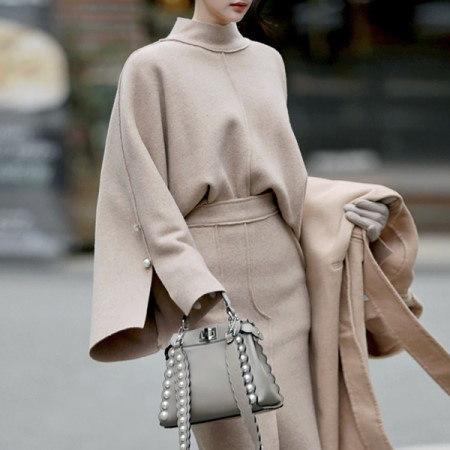 【ディントゥ] E1681メリーアウトラインウールニットトップkorea fashion style