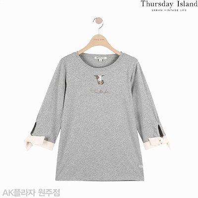 ThursdayIsland[AK公式ストア]【thursdayisland】袖配色Tシャツ(T192MTS134W)