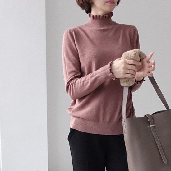 ミシャププリティーニットT2 color ニット/セーター/タートルネック/ポーラーニット/韓国ファッション