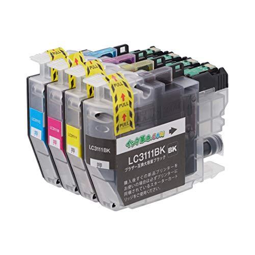 【インク革命製】 ブラザー LC3111-4PK (4色セット) brother 互換 インクカートリッジ 対応機種:DCP-J572N / J577N / J582N / J972N / J973N