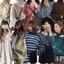 2019春秋早割【今日更新特価】✮韓国ファッション秋冬に刺しゅう燈籠袖のゆったりブラウスの外をかけてプルオーバー独特のデザインニット✮刺繍シャツカーディガン♡ワンピースセーター