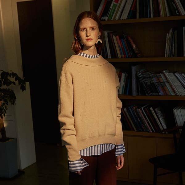 [韓国直送] 【オンエンオン] back-vent ribbon knit NK7WP520