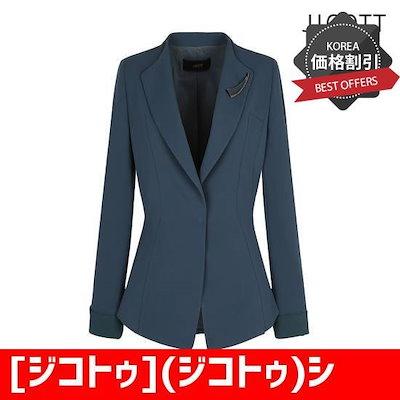 [ジコトゥ](ジコトゥ)シンプルカラスリムジャケットJI3A0JK56 /テーラードジャケット/ 韓国ファッション