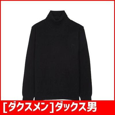 [ダクスメン]ダックス男性ブラックメルランジソウル混紡長袖のセーターWMSW7D071BK /ニット/セーター/韓国ファッション